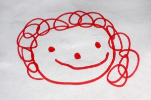 child's drawing of face