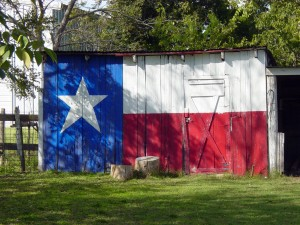 texas flag on building