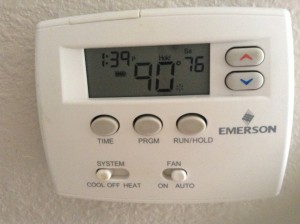 Our house was at least 90 degrees while our AC was out.