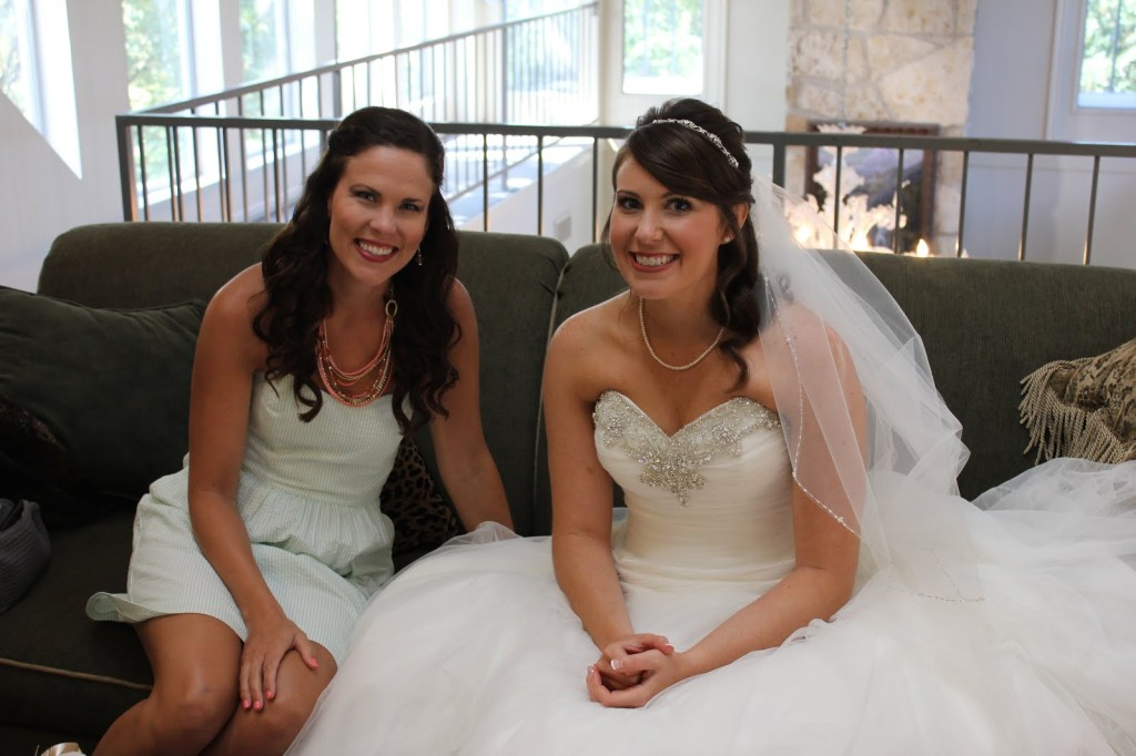 With sweet Katy on her wedding day!  Isn't she a radiant bride?